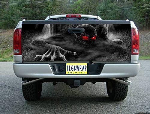 T23 Skeleton Skull Graveyard Tailgate Wrap Vinyl Graphic Decal