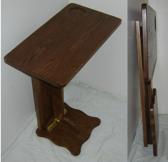 Sofa Server Tray Table: I Could Make This...Wood FOLDING Sofa Server TV / RV
