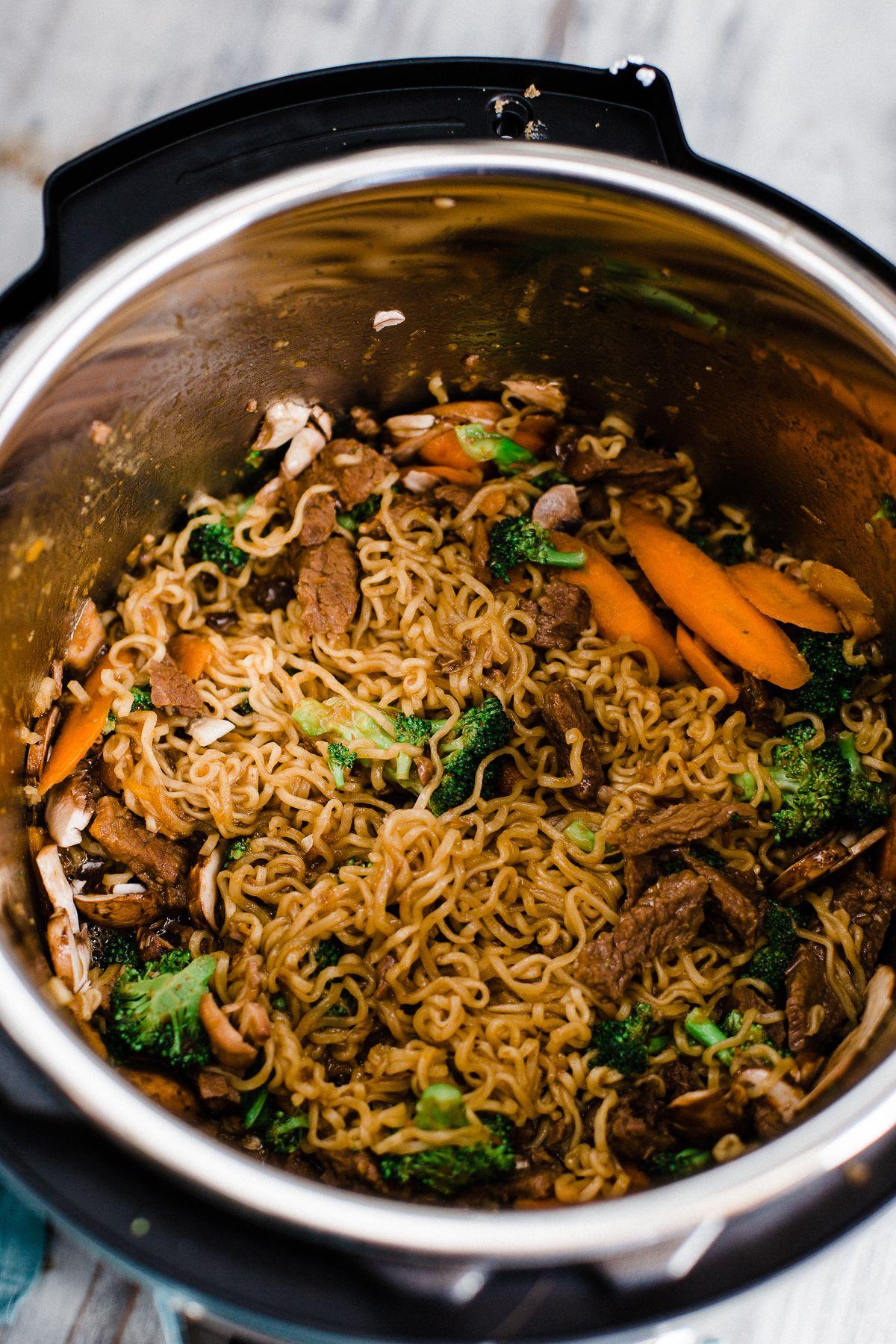 Instant Pot Mongolian Beef Ramen Bowl Recipe Instant Pot