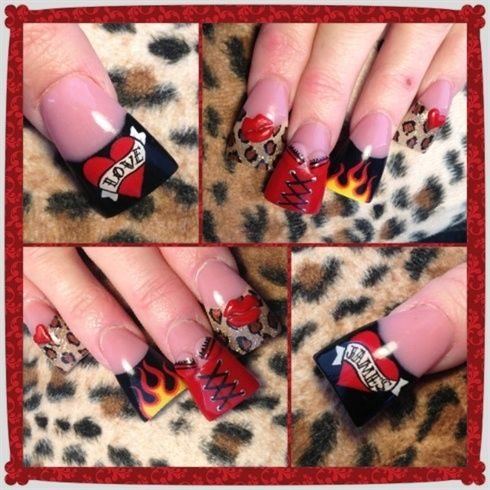 Corsets And Flames Valentine By Oli123 Nail Art Gallery