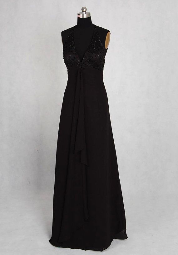A-Line/Princess Halter Sleeveless Chiffon Lace Floor-length Prom Dresses With Embroidery Beading Free Shipping$115.00