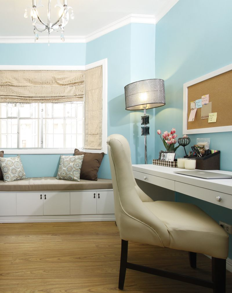 Lovely Tiffany Blue Home Office Makeover As Seen In Real Living Magazine Philippines