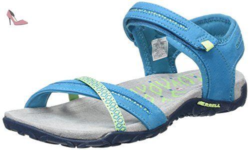 20beaf91cea Merrell - Terran Cross II - Sandale - Femme - Bleu (Teal) - 38 EU ...