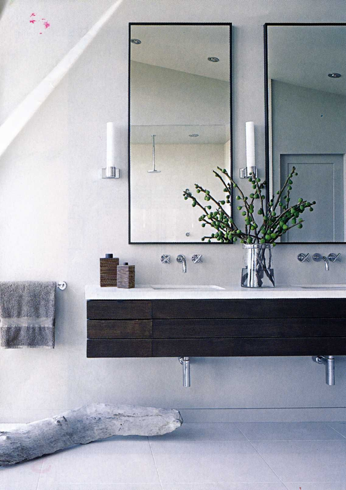 inspiration for vanity | finish will be in a much more natural/warm ...