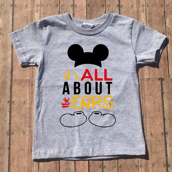 54f3299dd It's All About the Ears Shirt, Mickey Mouse, Baby Boy, Toddler Boy, Disney  Shirt, Youth Shirt, Child Shirt