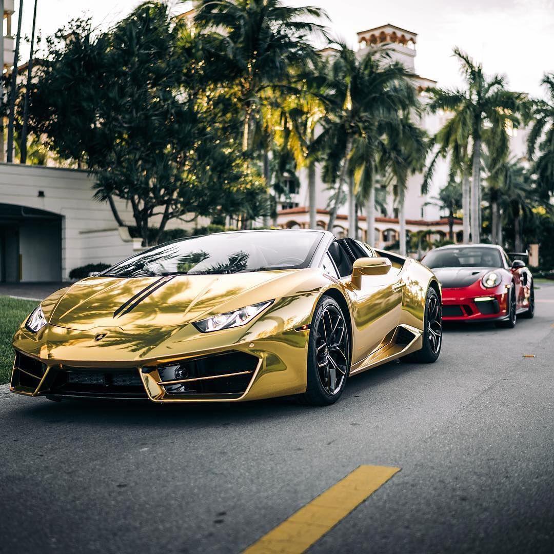 Golden Lambo Or Porsche Follow The Exquisite Lifestyle Kingrotta Coches