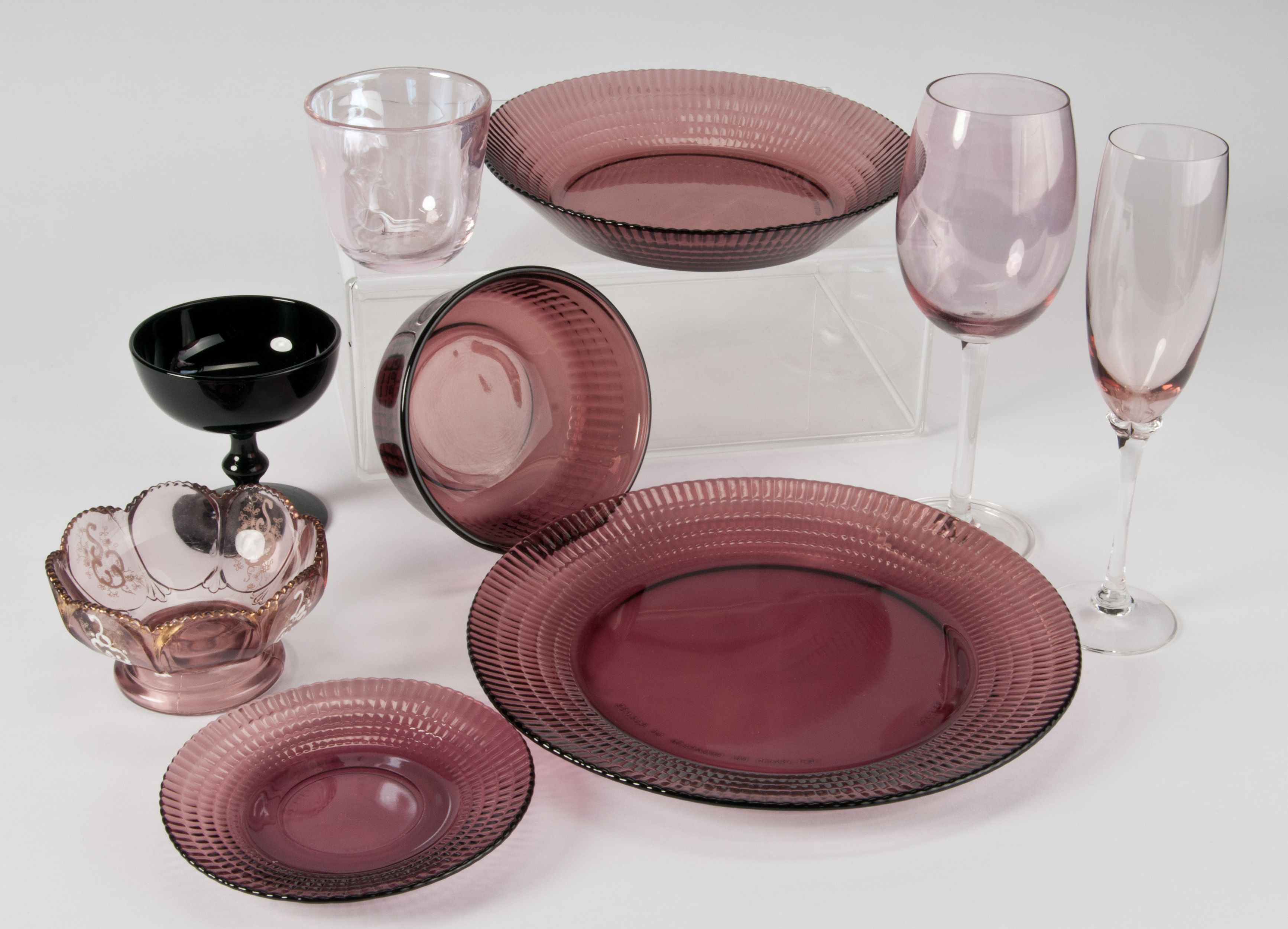 Purple Glass Dinnerware Sets   Droughtrelief.org