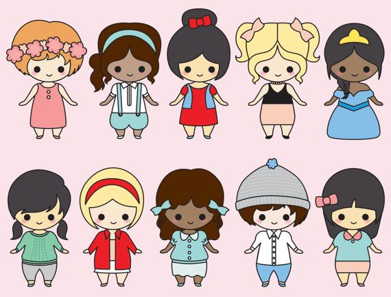 Premium Vector Clipart Kawaii Girls Im 225 Genes