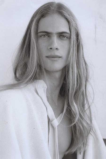 Awesome Handsome Man With Long Blond Hair