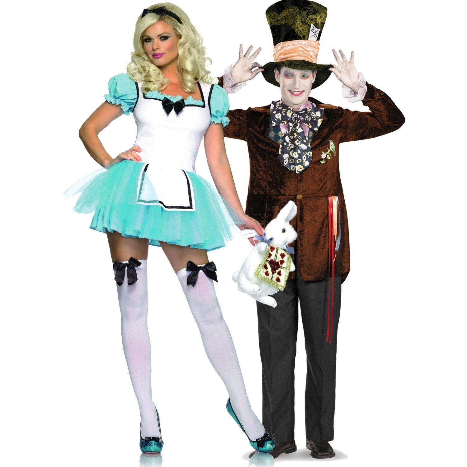 Enchanted Alice and Deluxe Mad Hatter Alice in Wonderland Couples ...