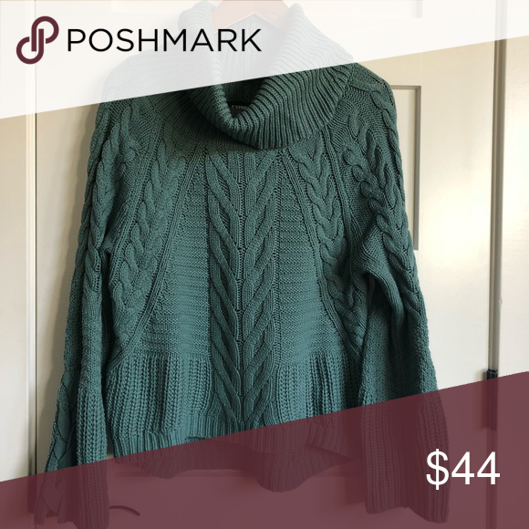Express Cowl Neck Cable Knit Sweater Excellent Condition Minor Pilling Under The Arms And In The Sleeves Bell Sleev Cable Knit Sweaters Clothes Design Sweaters
