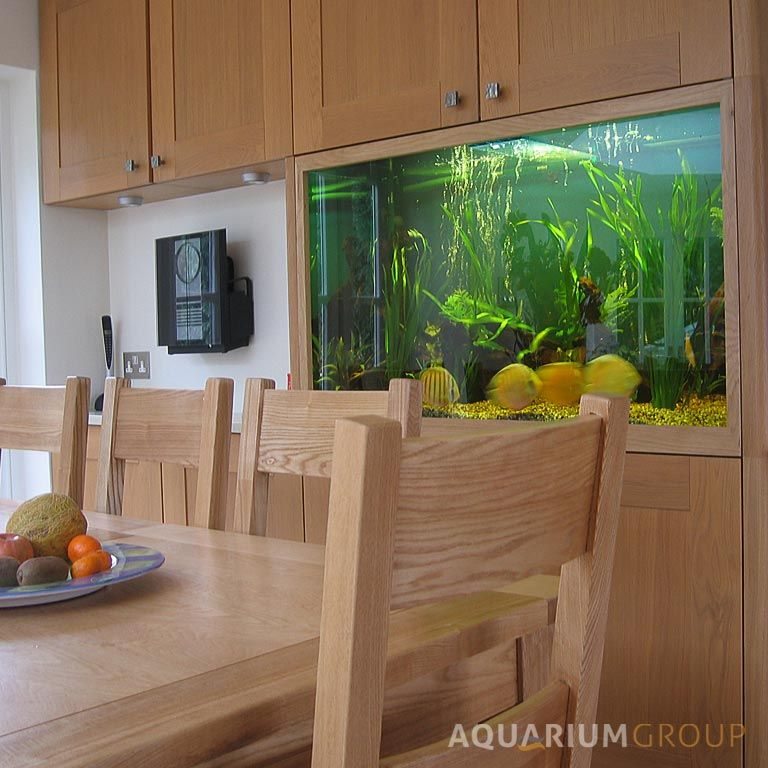 Custom Integrated Kitchen Fish Tank From Aquarium Group