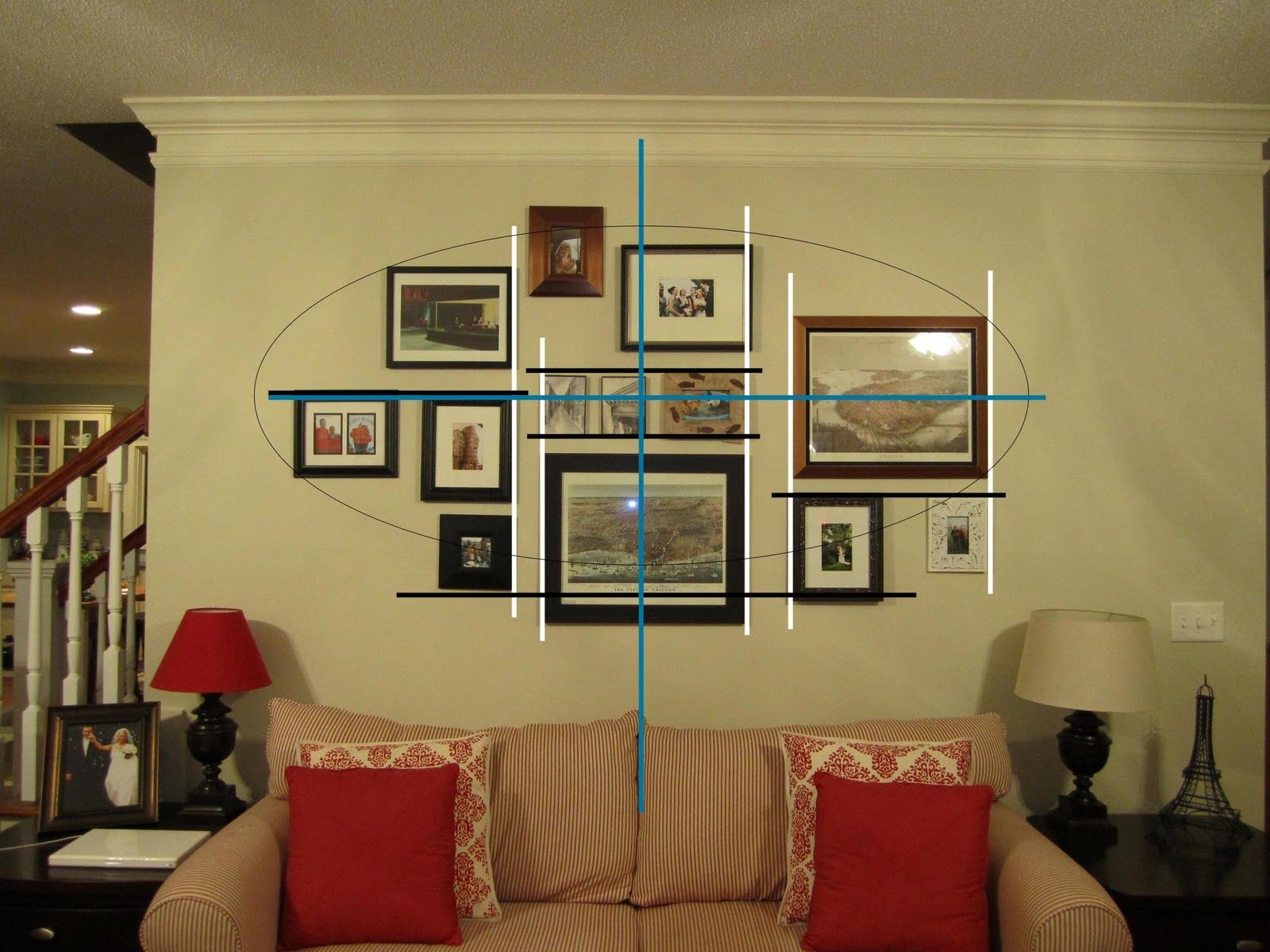 Wall Photo Collage Template This Photo Shows The Oval Superimposed