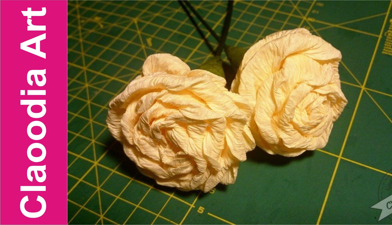 Jak Zrobic Roze Z Krepiny Metoda Cukierkowa Crepe Paper Rose Eng Paper Roses Crepe Paper Roses Crepe Paper