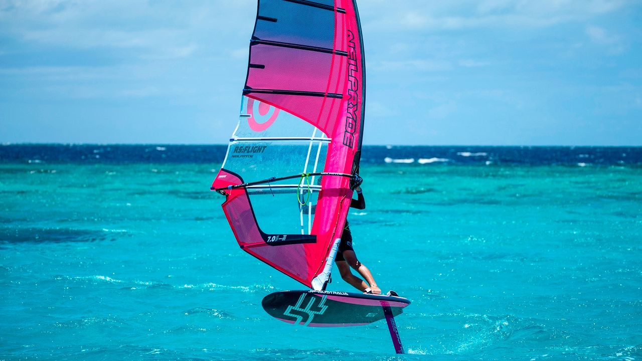Windsurfing Foil Board. Pretty close to a real hoverboard