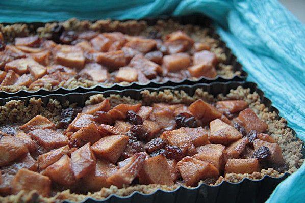 Tarte aux pommes, cranberries, pâte croustillante à l'avoine