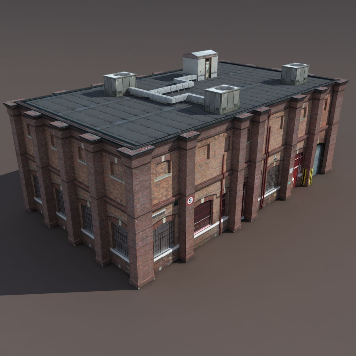 Old Factory Low Poly 3d Building In 2020 Old Factory 3d Building Low Poly 3d