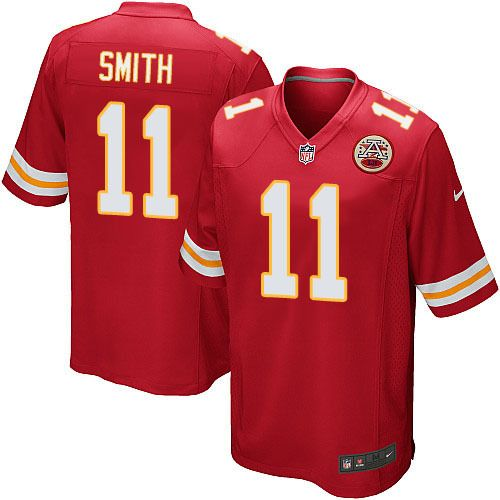 aa2570b37 Men Kansas City Chiefs  11 Alex Smith Game Jersey  ChiefsHonor  Jersey   Standard
