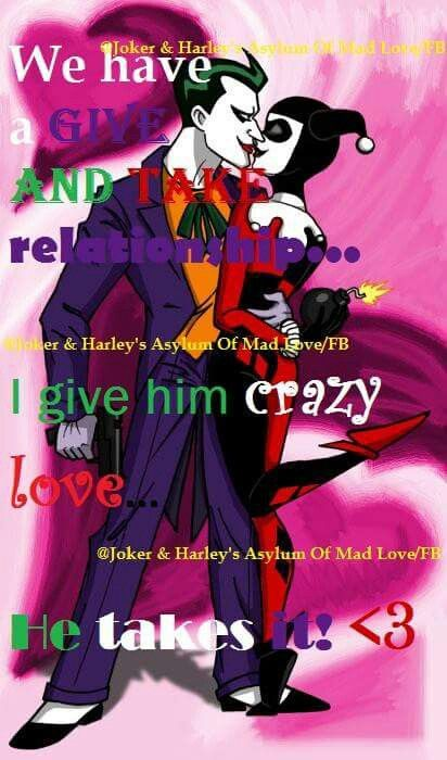 Mad Love Harley Quinn Quotes : harley, quinn, quotes, Harley, Joker, Love.