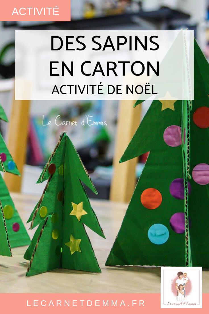 Des sapins en carton - Activité Noël #activitémanuelleenfantnoel