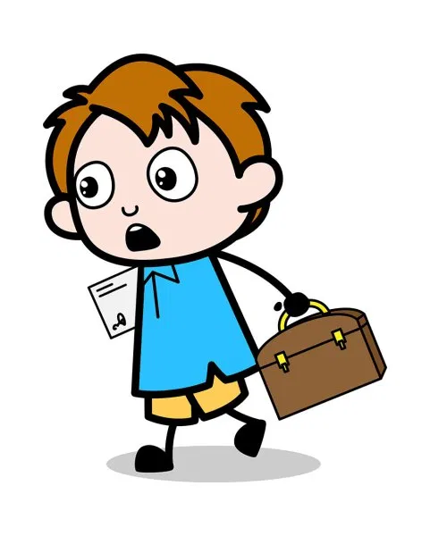 Running And Envelope And Briefcase School Boy Cartoon Character Vector Free Download Boy Cartoon Characters Cartoon Clip Art Free Cartoon Clipart