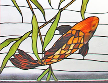 Stained Glass Bass Fish Patterns Koi Fish Stained Glass