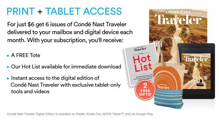 Conde Nast Traveler Subscription