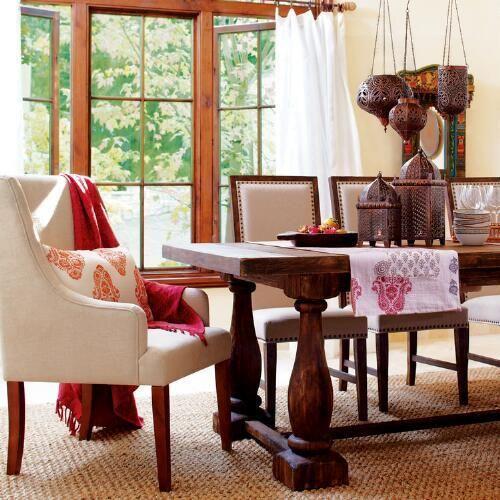 rustic java greyson fixed dining table world market furniture rh pinterest com