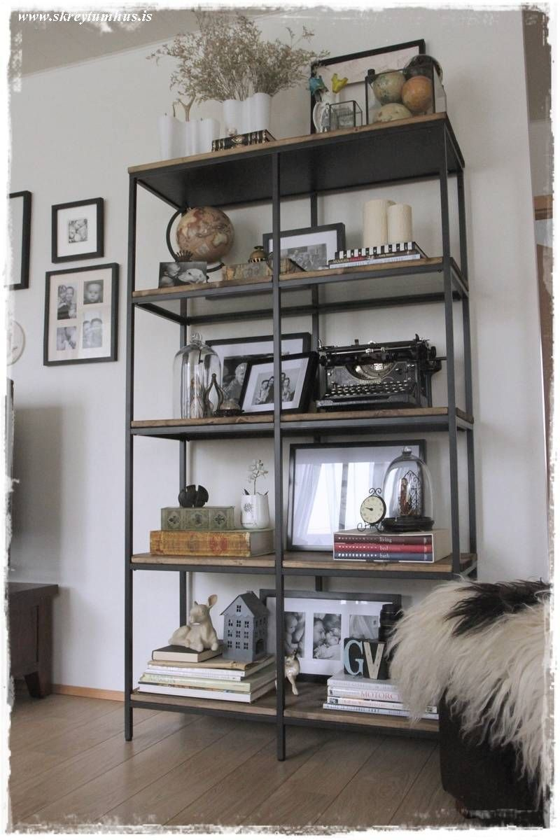 vittsjo ikea hack into rustic industrial shelving. Black Bedroom Furniture Sets. Home Design Ideas
