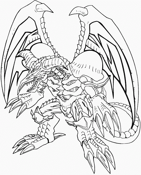 black skull dragon yu gi oh coloring pages