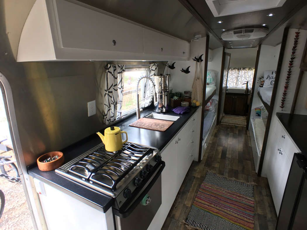 Airstream Renovation Tour Before And After Airstream Renovation Vintage Airstream And Airstream