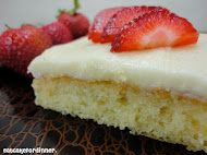 Grammy's White Sheet Cake- Quick, easy- yummy- I just made 1/2 recipe!