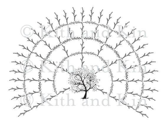 Blank Genealogy Family Tree Fan Chart   Generations  Family