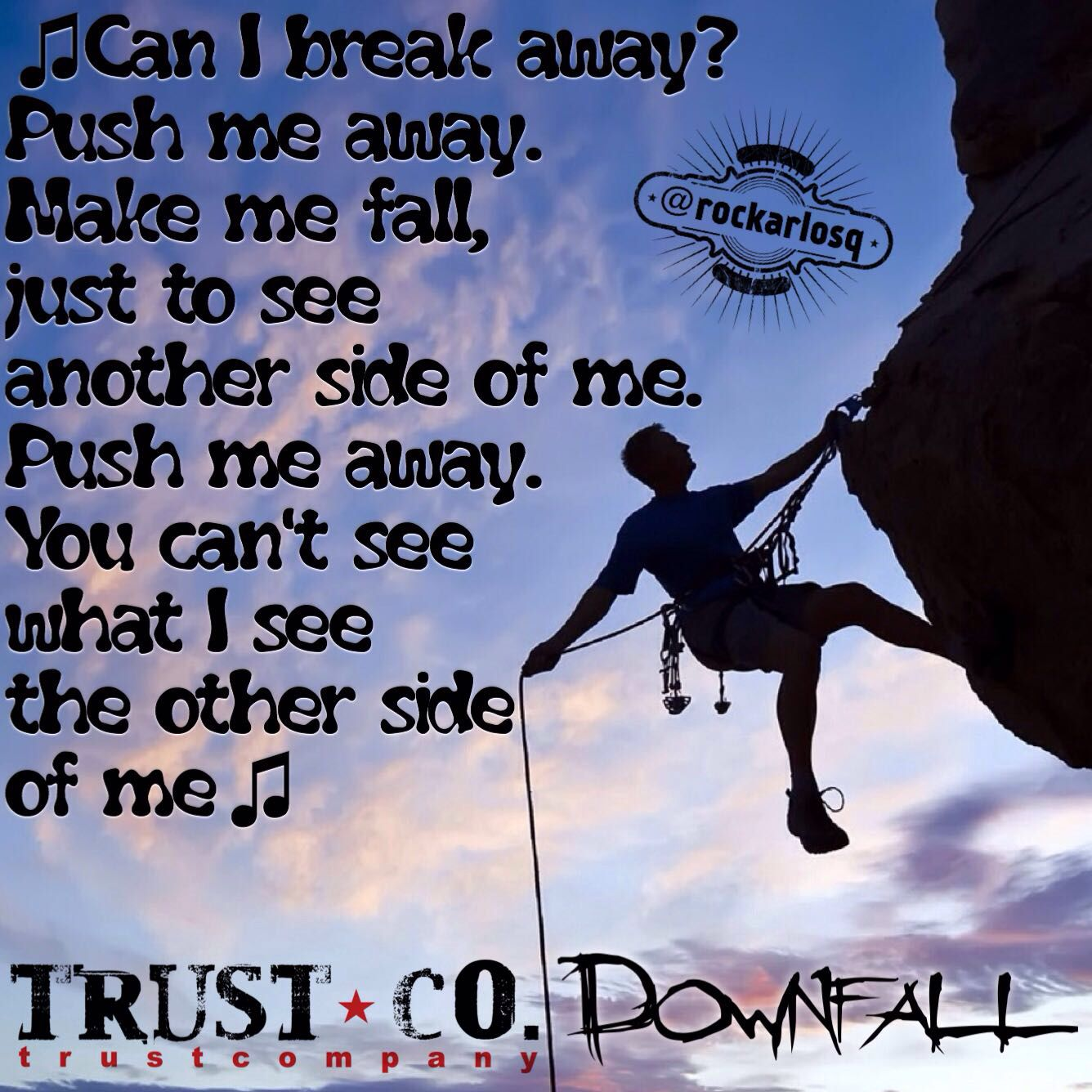Can I break away Push me away Make me fall Just to see