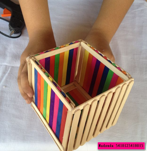 1d5c28f2c6 Craft idea for kids made by wooden ice cream sticks | Homework ideas ...