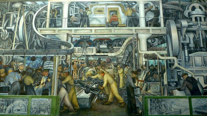 diego rivera detroit industria murales diabetes