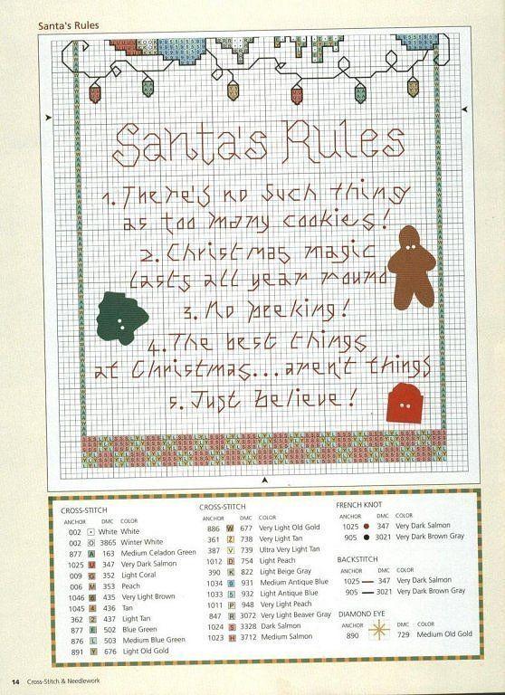 Santa\'s rules 2/2 Patrones punto de cruz (solo country) (pág. 25 ...