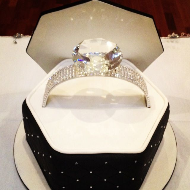 Bling Engagement Ring Cake Sweetlysliced
