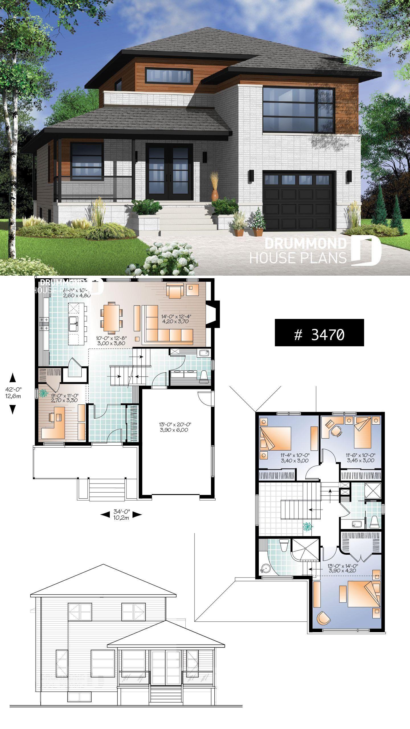 Modern House Designs Floor Plans House Plan Aldana No 3470 In 2020 House Blueprints Bungalow House Design New House Plans
