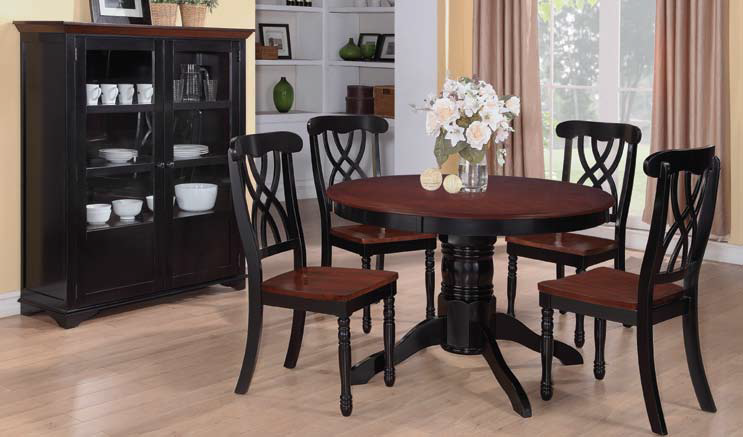 Addison Black Cherry Dining Room Set Black Dining Room Table Round Dining Room Sets Round Dining Table Sets