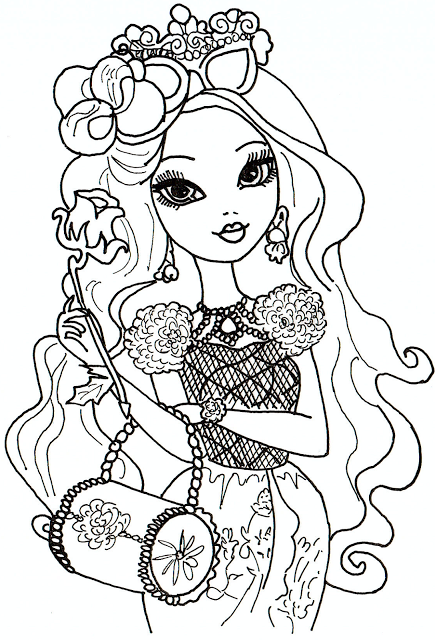 Lots of free printable ever after high coloring pages briar beauty ever after high coloring sheet