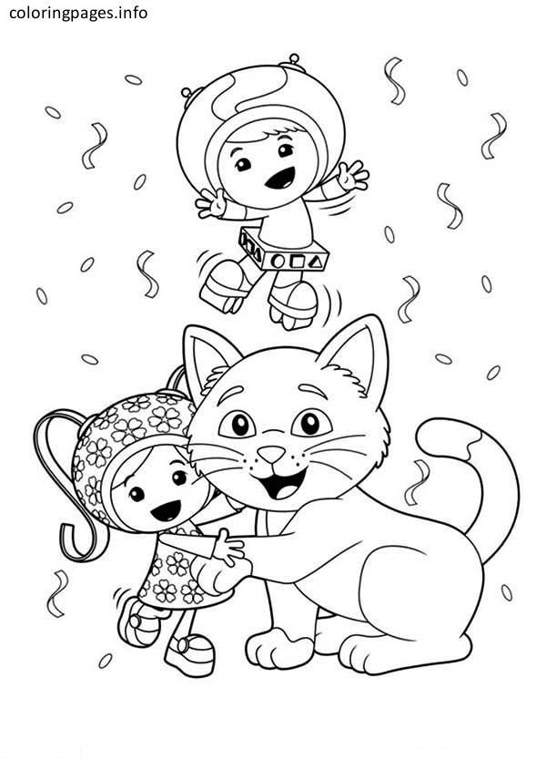 team umizoomi milli and cat coloring pages | Coloring Pages ...
