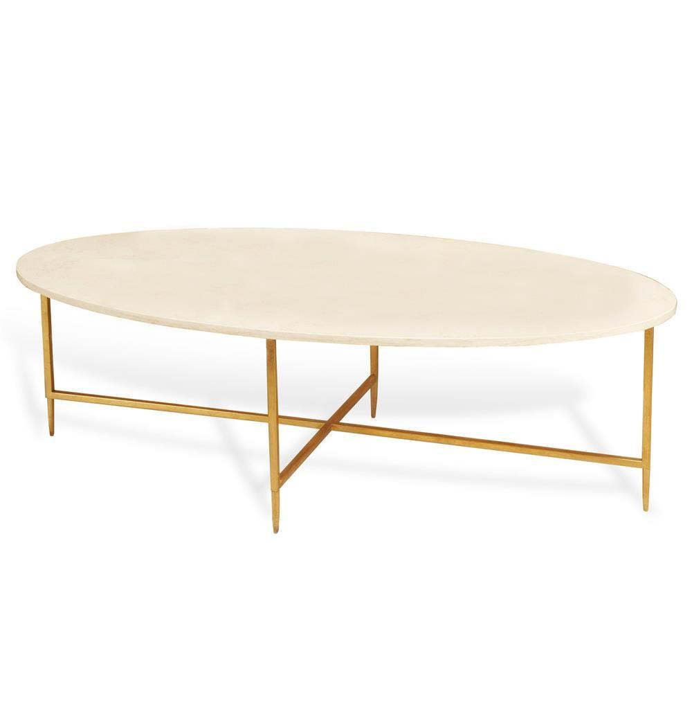 Ashlyn Hollywood Regency Gold Cream Marble Oval Coffee Table Gold Coffee Table Coffee Table Furniture Oval Coffee Tables [ 1021 x 1000 Pixel ]