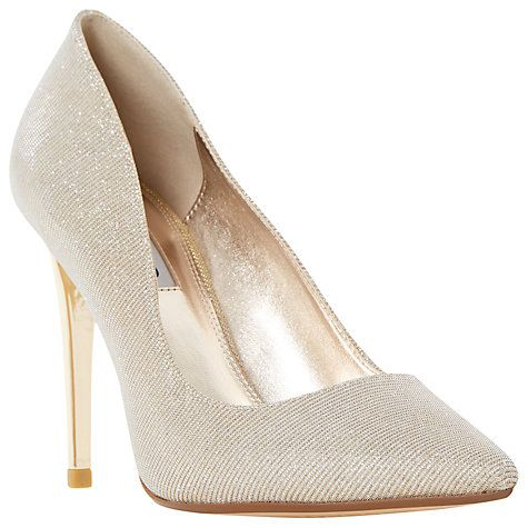Buy Dune Betsee Pointed Court Shoes, Silver Online at johnlewis.com