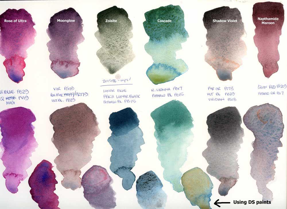 Lezley Davidson Mix Match Daniel Smith Specialty Colours