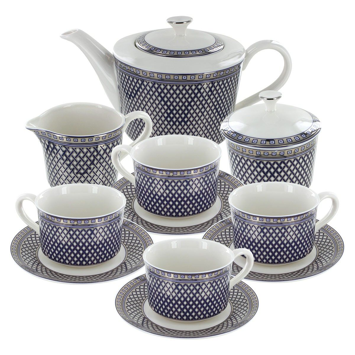 Metro Blue Porcelain Tea Set   Tea set obsessions   Pinterest ...