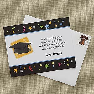 Let S Celebrate Custom Thank You Cards Graduation Thank You Cards Thank You Notes Graduation Thank You Card Sayings