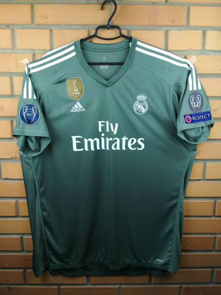 061a1390227 Advertisement(eBay) Real Madrid adizero goalkeeper jersey 2XL 2017 shirt  B31100 soccer Adidas