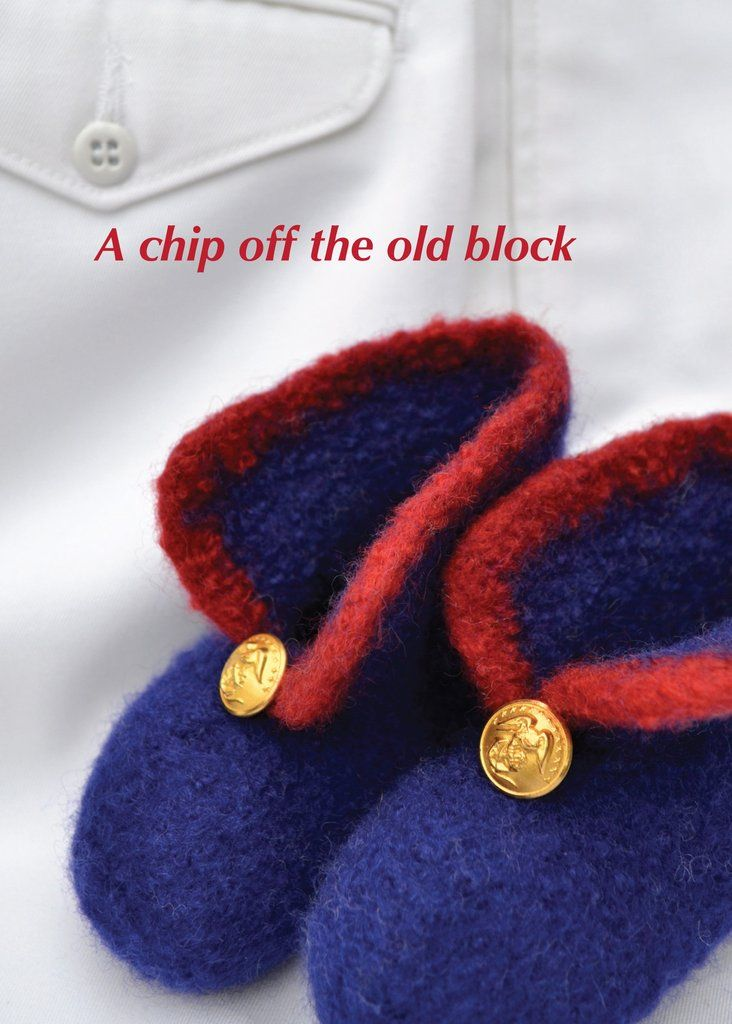 Chip off the old block new baby greeting card for