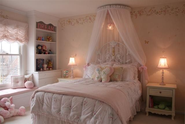 Little Girls Bedroom Design Ideas With Princess Canopy Bed Sets : Canopy Bed  For Little Girls Bedrooms